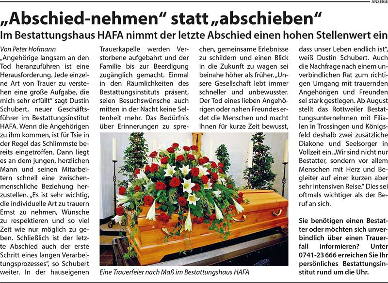 Artikel Amtsblatt-Blogbeitrag-Bestattungen Hafa-Rottweil