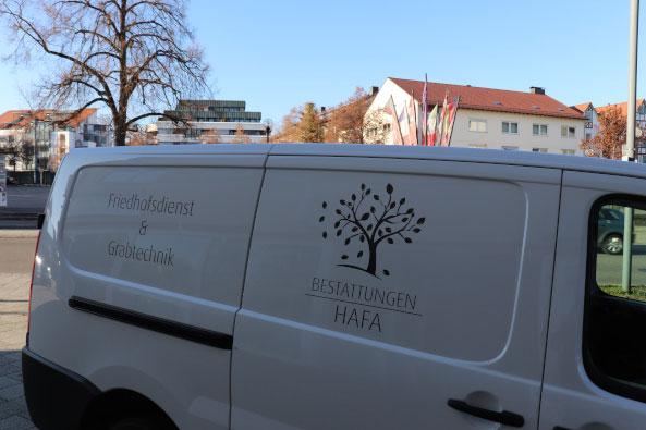 Gemeindefahrzeug-Footer-Bestattungen Hafa-Rottweil